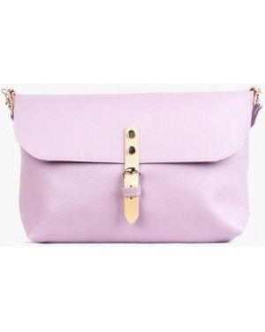 Кожаная сумка через плечо фиолетовый Kokosina