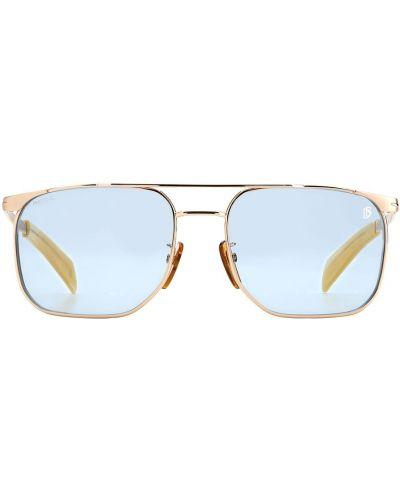 Beżowe złote okulary Db Eyewear By David Beckham