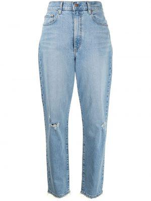 Синие зауженные джинсы-скинни на молнии Nobody Denim