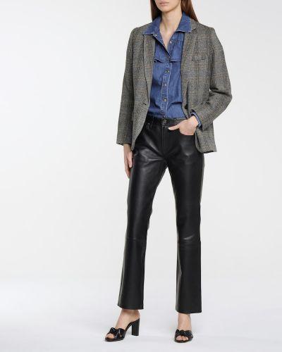Ватная хлопковая синяя джинсовая рубашка Philosophy Di Lorenzo Serafini