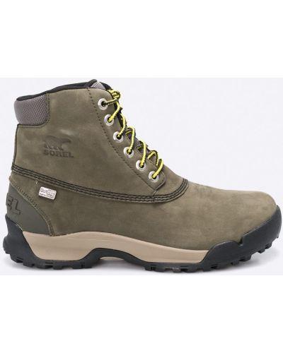 Ботинки на шнуровке милитари замшевые Sorel