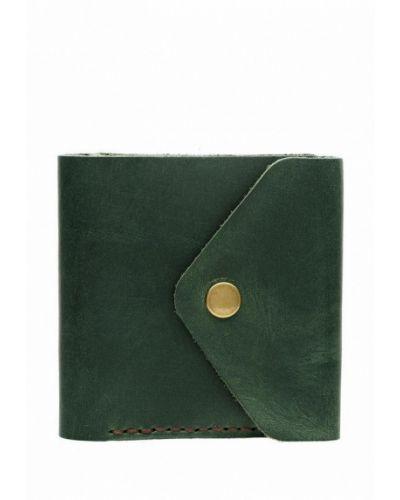 Зеленый кошелек из натуральной кожи Sfn