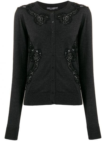 Кардиган черный длинный Dolce & Gabbana