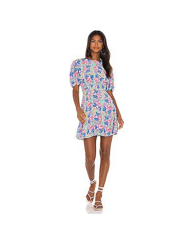 Шелковое платье мини на молнии с вырезом Faithfull The Brand