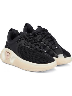 Czarne sneakersy skorzane Balmain