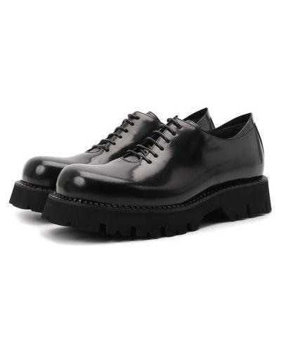 Черные кожаные оксфорды Attimonelli's