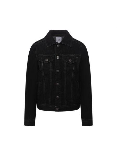 Хлопковая серая джинсовая куртка Ag