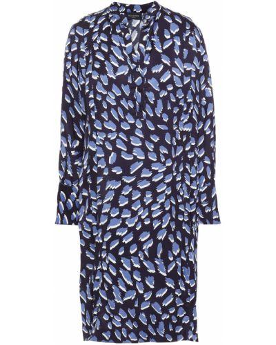 Плиссированное платье - синее Piazza Sempione