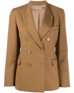 Удлиненный пиджак с карманами из верблюжьей шерсти Blanca
