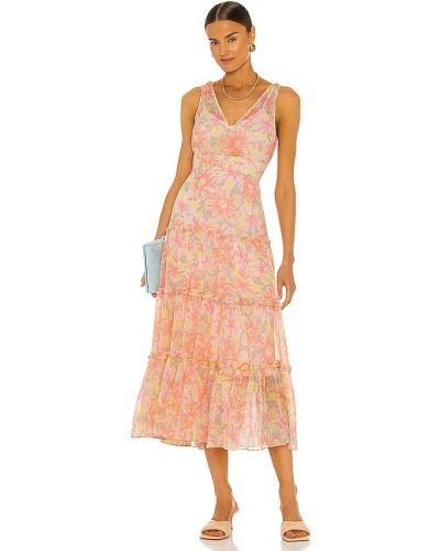 Różowa sukienka z szyfonu Likely