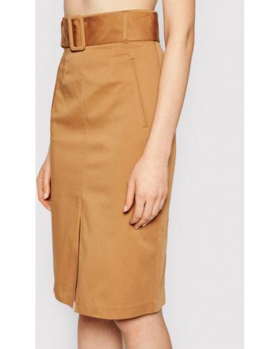 Brązowa spódnica ołówkowa Twinset