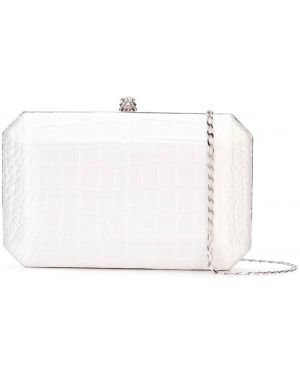 Белая шелковая сумка на цепочке с карманами Tyler Ellis