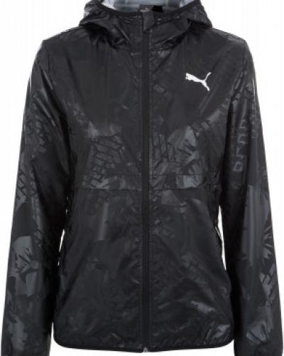 Куртка с капюшоном черная спортивная Puma
