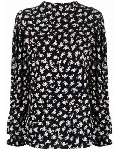 Блузка с принтом - черная Seventy