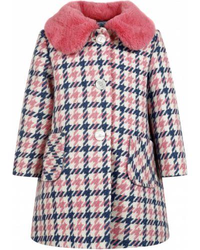 Шерстяное пальто - розовое Miss Blumarine