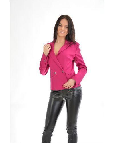 Розовый пиджак с подкладкой из вискозы Karen Millen