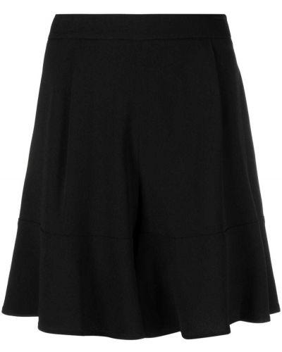 Расклешенные черные шорты из вискозы L'autre Chose