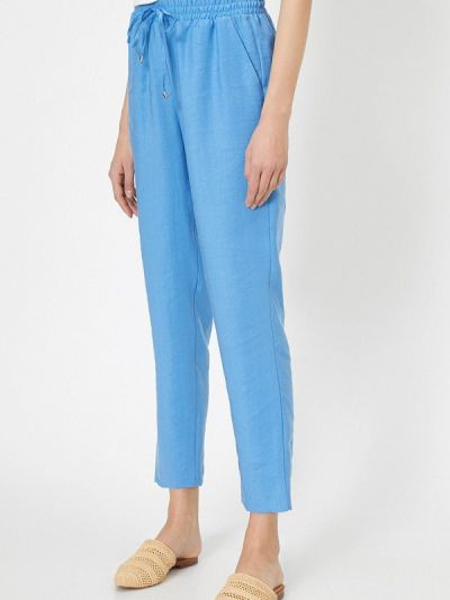 Синие повседневные брюки Koton
