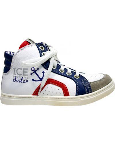 Кеды белый кожаный Iceberg
