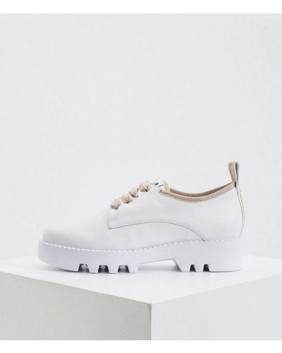 Кожаные белые ботинки Hogl