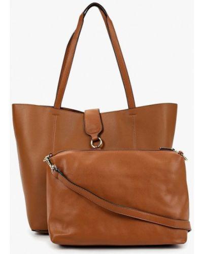 Коричневая сумка шоппер Elite