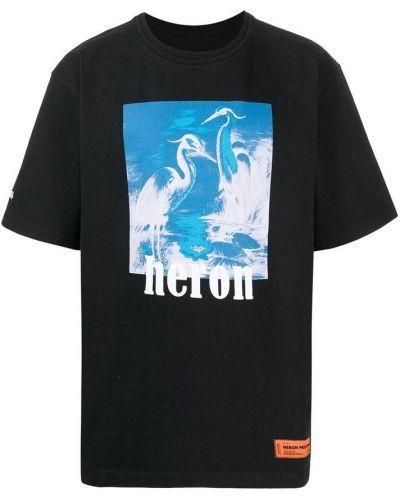 Czarna podkoszulka Heron Preston