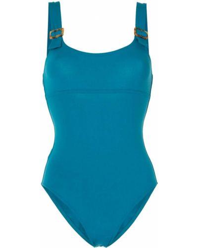 Слитный купальник с декольте - синий Eres