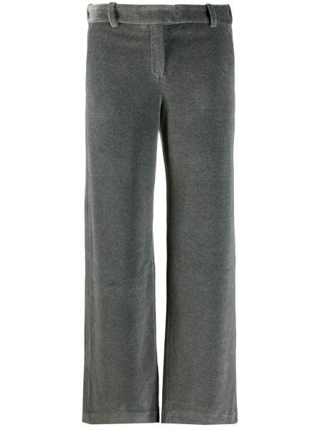 Бархатные серые брюки с потайной застежкой Circolo 1901