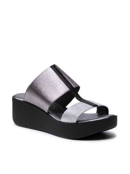 Sandały srebrne - czarne The Flexx