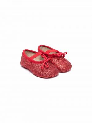 Czerwone balerinki skórzane Gallucci Kids