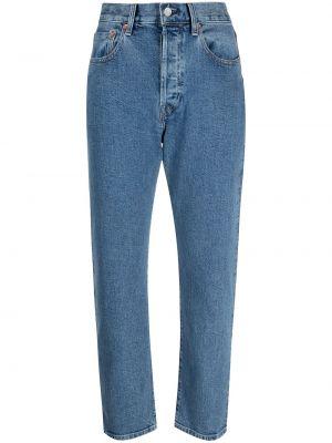 Кожаные синие джинсы классические с карманами Levi's®  Made & Crafted™