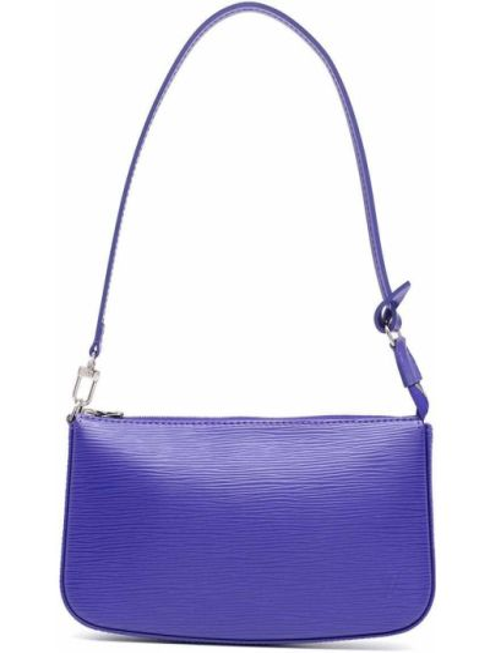 Niebieska torba na ramię skórzana Louis Vuitton