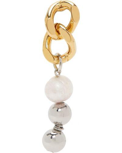Złote kolczyki perełki - białe In Gold We Trust Paris