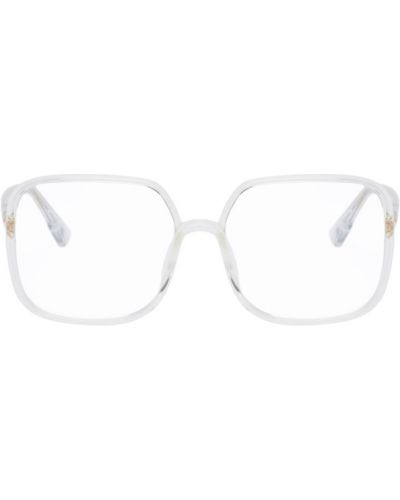 Черные очки для зрения квадратные прозрачные Dior