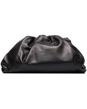 Kopertówka skórzana - czarna Bottega Veneta