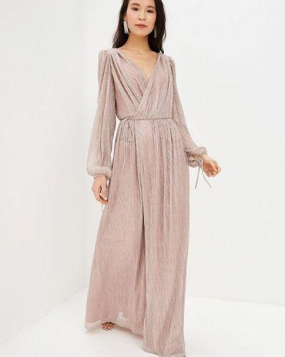 Вечернее платье розовое осеннее Ruxara