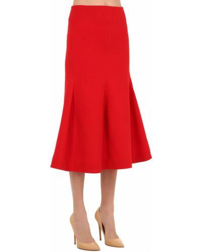 Юбка на молнии - красная Victoria Beckham