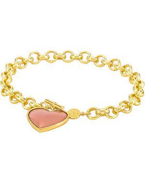 Różowa złota bransoletka ze złota pozłacana Gorjana