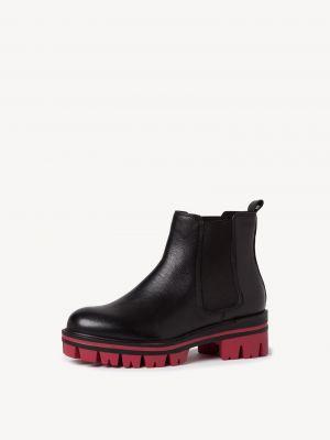 Черные кожаные ботинки челси Tamaris