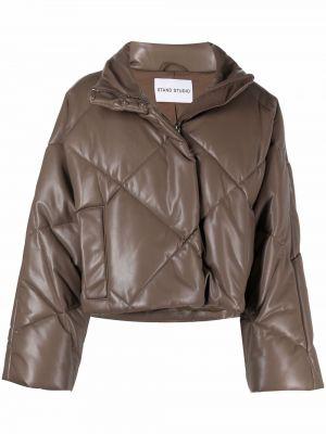 Стеганая куртка - коричневая Stand Studio