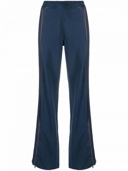 Брюки в полоску - синие Vivienne Westwood