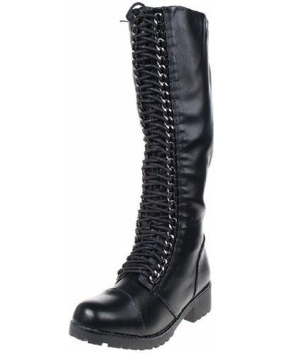 Кожаные сапоги на шнуровке на молнии Migura