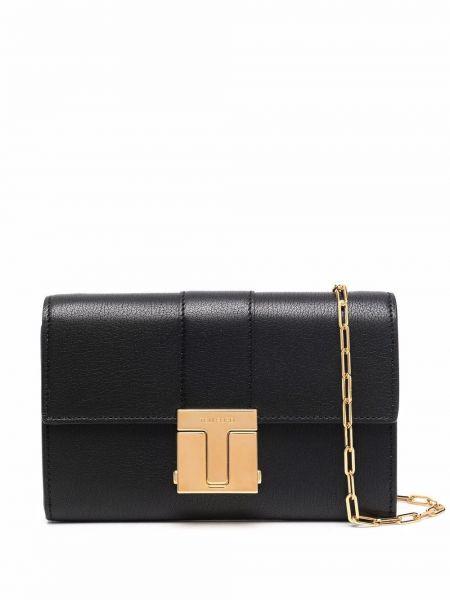 Кожаный кошелек золотой с декоративной отделкой Tom Ford