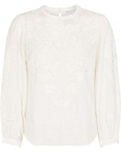Белый топ с вышивкой Veronica Beard