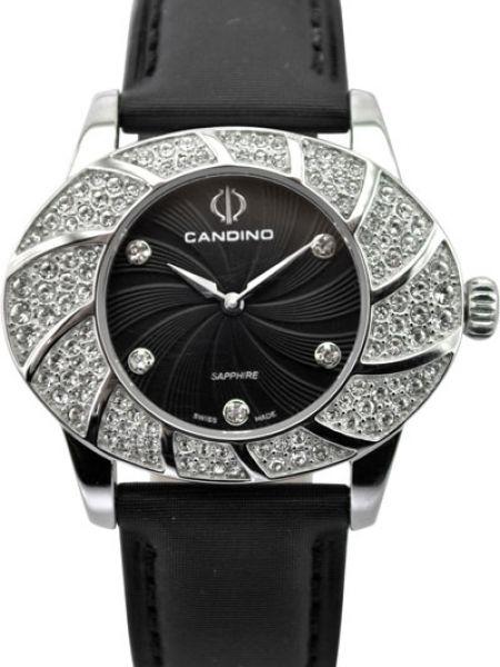 Водонепроницаемые часы черные кварцевые Candino