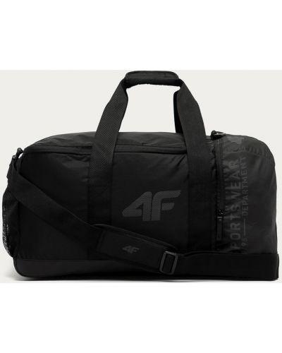 Czarna torba podróżna z printem 4f