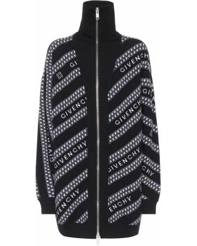 Czarny kardigan wełniany Givenchy