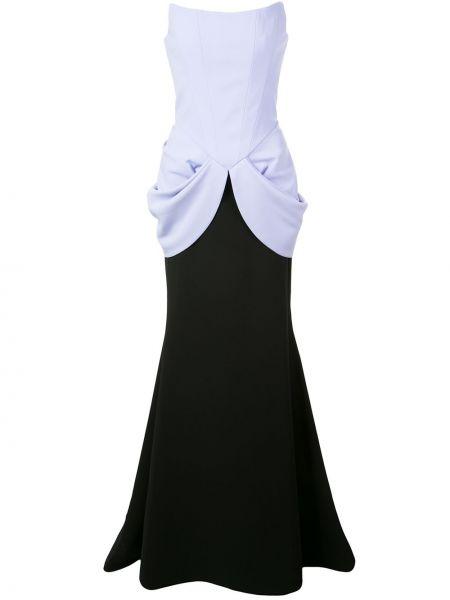 Czarna sukienka długa Christian Siriano