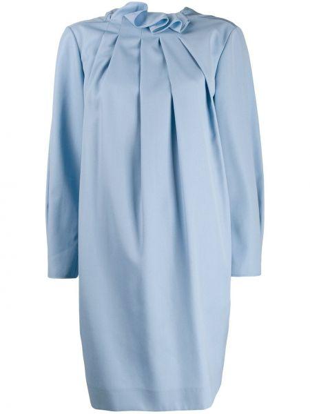 Платье мини со складками прямое Nina Ricci