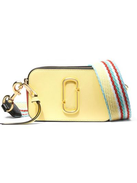Кожаная сумка через плечо - желтая Marc Jacobs